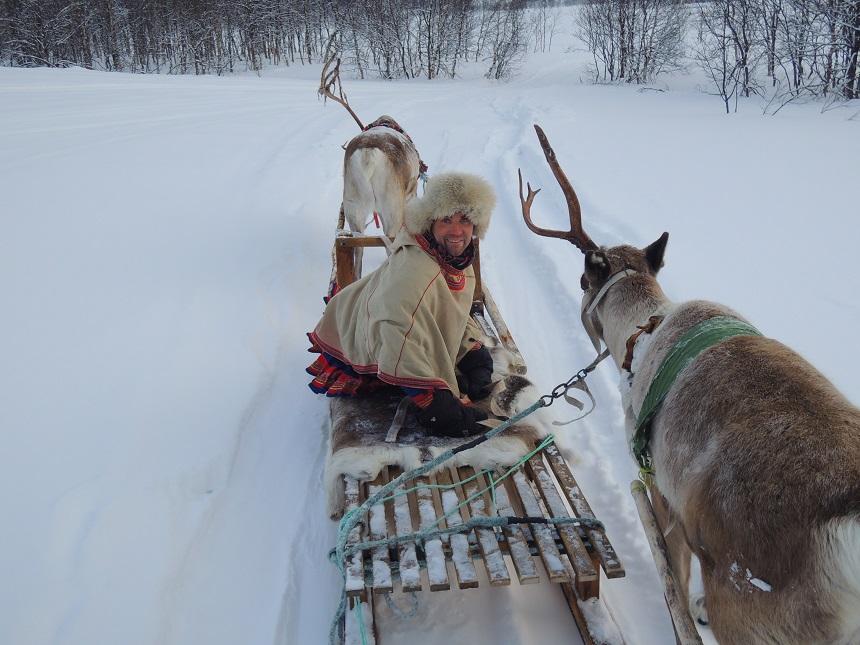 Breng een bezoek aan een Samische rendierhouderij