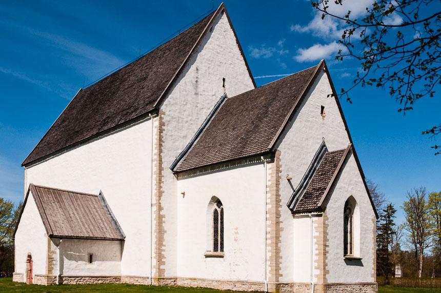 Roadtrip Baltische staten - st Catharines kerk op Muhu