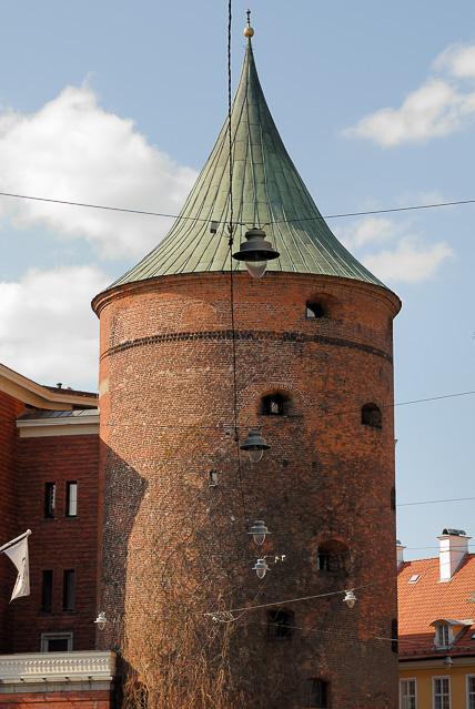 de oude Kruittoren in Riga