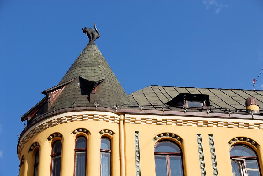 Riga - het huis met de kat