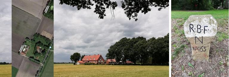 Stukje Duitsland in Nederland (grensafwijking) - Grenspaal bij Schwartenberg