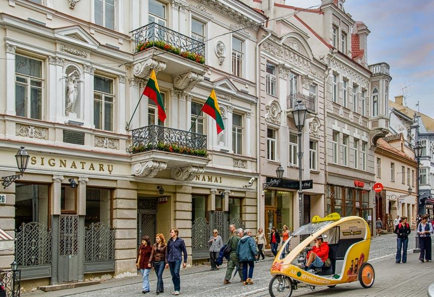Vilnius kent fraaie straten