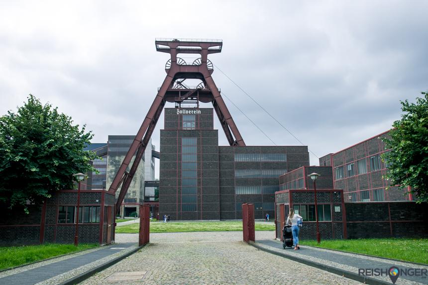 Zeche Zollverein is een oud industriecomplex met een kolenmijn in Essen