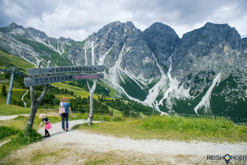 Panoramaweg plattform StubaiBlick