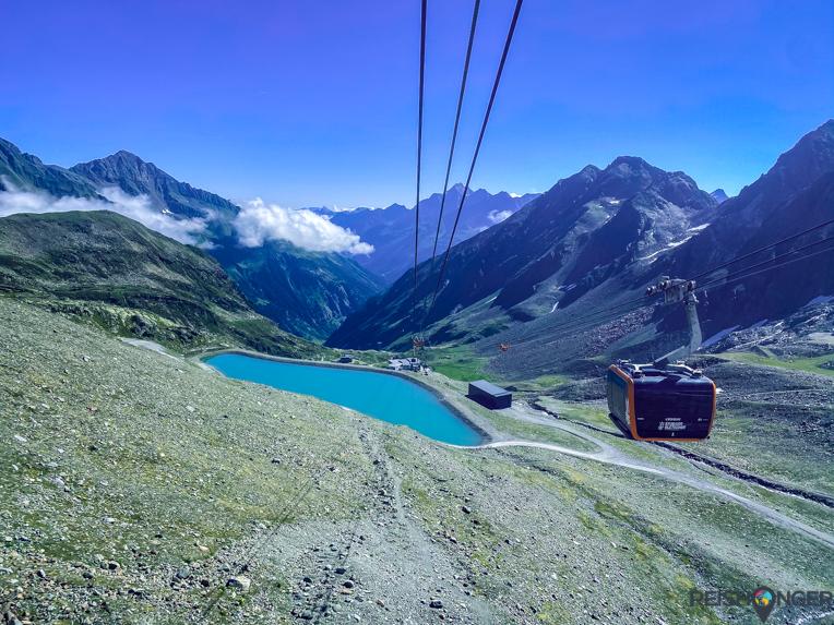 Uitzicht Eisgratbahn Stubai Oostenrijk