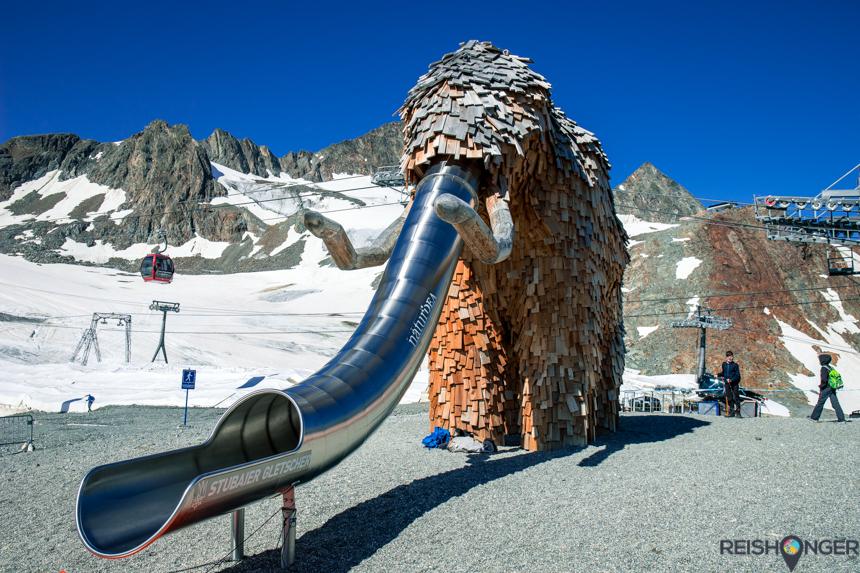 Mammoet avonturenspeelplaats Stubaier Gletsjer