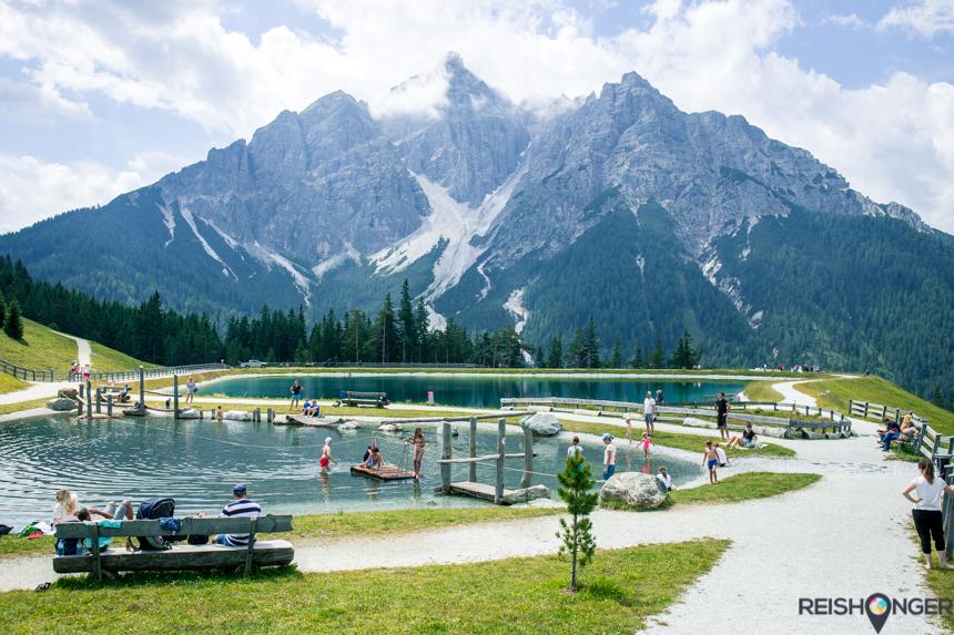 Serles Bergmeer speeltuin met panorama