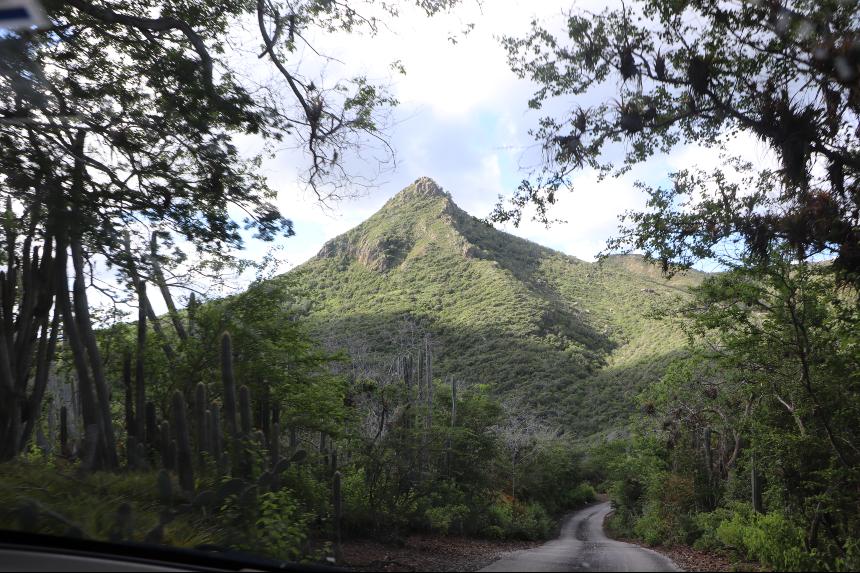 Voor actievelingen is het beklimmen van de Christoffelberg een must op Curacao