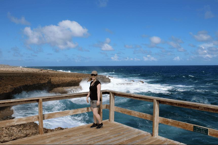 Uitwaaien bij Shete Boka aan de noordkant van Curacao