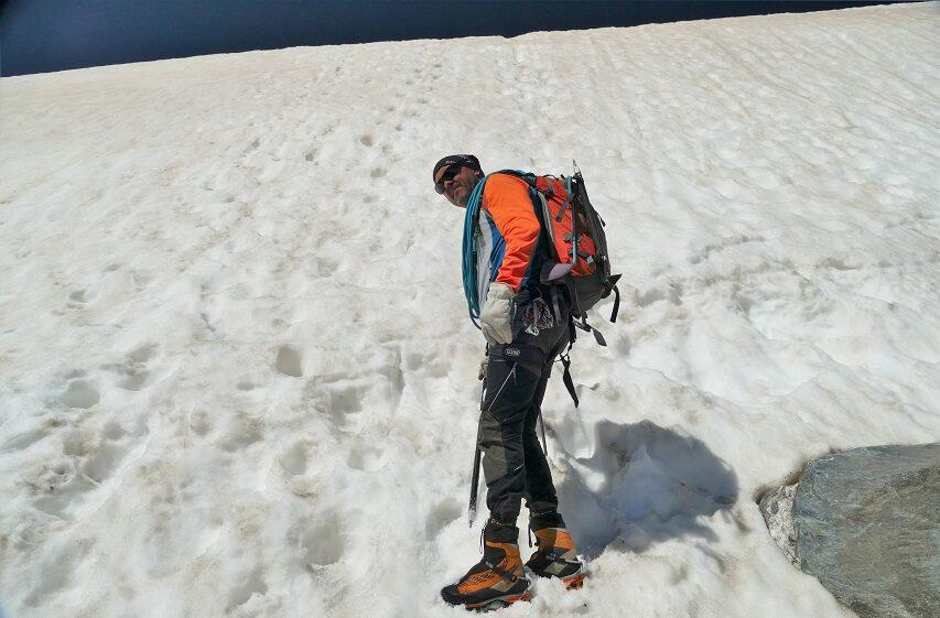 Muur van ijs en sneeuw