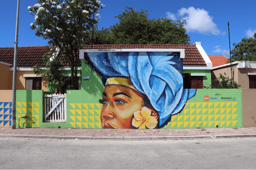 Street art op Curacao