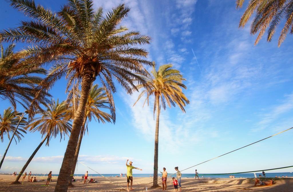 Valencia zon en strand