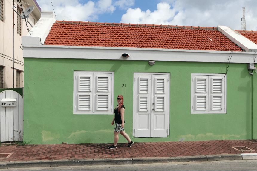 Gekleurde huizen in Willemstad