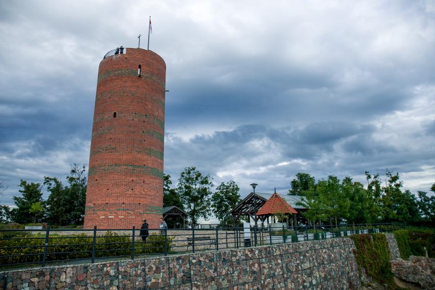 Polen Koejavië Pommeren Grudziadz uitkijktoren