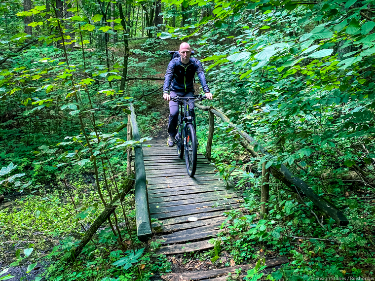 Polen Koejavië Pommeren Gorzno fietsen
