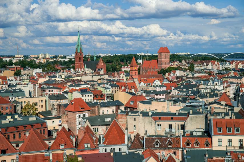 Koejavië-Pommeren Polen Torun Copernicus stadhuis