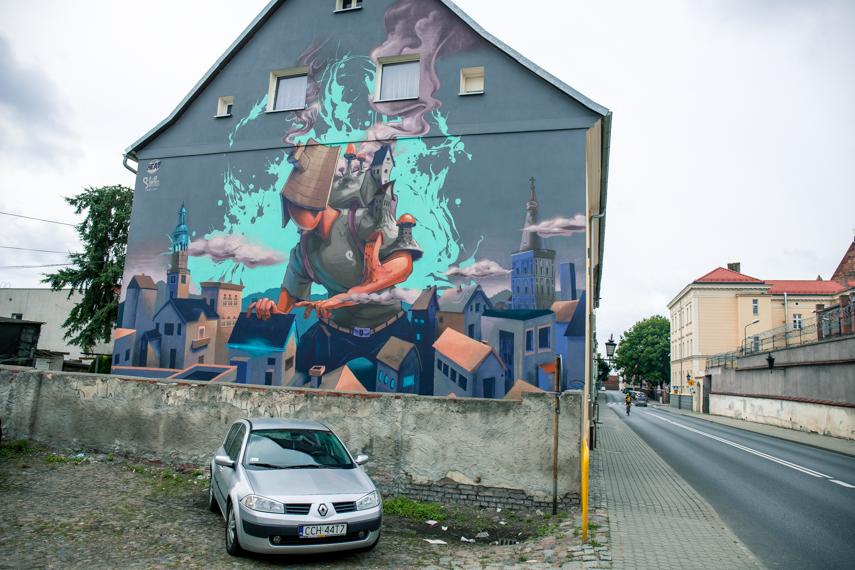 Koejavië-Pommeren Polen Chelmno streetart