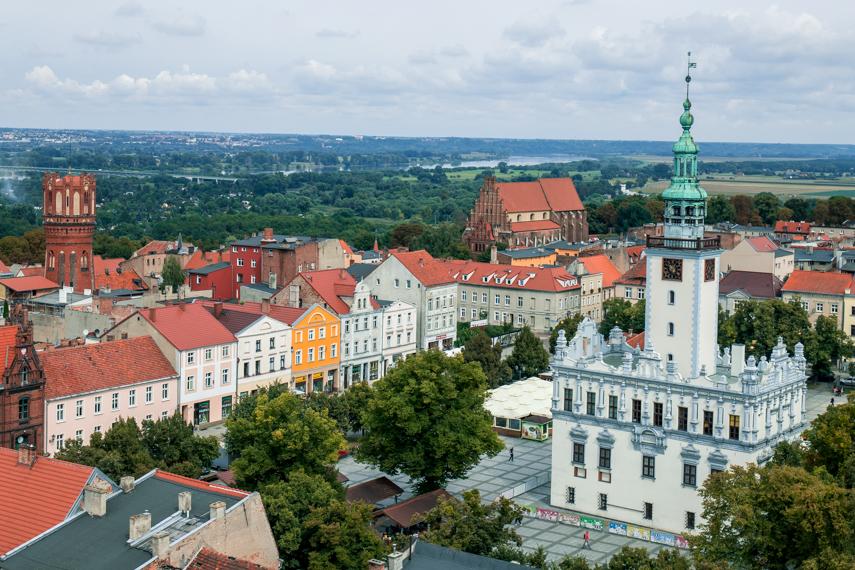 Koejavië-Pommeren Polen Chelmno centrum uitzicht