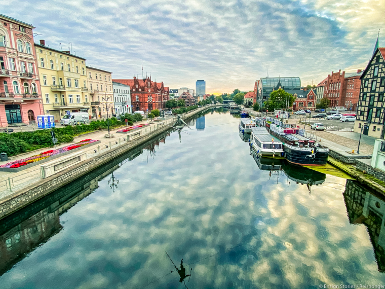 Koejavië-Pommeren Polen Bydgoszcz water tram